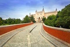 中世纪皇家城堡在鲁布林 库存照片
