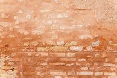 中世纪砖墙的多孔纹理 库存照片