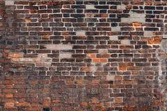 中世纪砖墙纹理 免版税库存照片