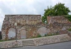 中世纪砖墙 库存图片