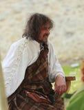 中世纪纵向苏格兰男子 库存图片