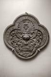 中世纪纹章学石雕刻 免版税库存图片