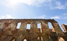 中世纪结构废墟  免版税库存照片