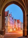 中世纪老镇兰茨胡特慕尼黑,德国 库存图片