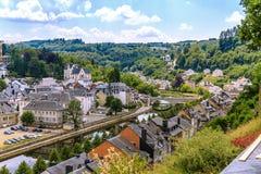 中世纪肉汤城市看法在比利时 免版税库存图片