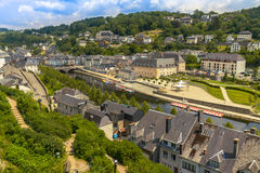 中世纪肉汤城市看法在比利时 免版税库存照片