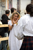 中世纪舞蹈 库存照片