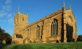 中世纪英国教会 免版税库存照片