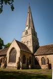 中世纪英格兰教会教堂 免版税图库摄影