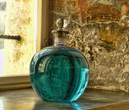 中世纪药房展览  库存照片