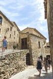 中世纪街道在卡塔龙尼亚 免版税库存照片