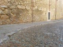 中世纪街道 库存照片