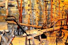 中世纪被加强的修道院的博物馆在Crit克洛伊茨,特兰西瓦尼亚 免版税库存照片