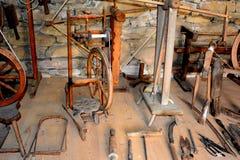 中世纪被加强的修道院的博物馆在Crit克洛伊茨,特兰西瓦尼亚 免版税图库摄影