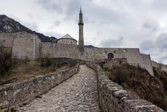 中世纪被加强的大厦在特拉夫尼克02 免版税库存图片