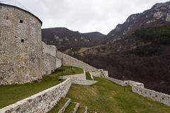 中世纪被加强的大厦在特拉夫尼克03 免版税库存照片
