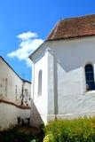 中世纪被加强的撒克逊人的教会在Homorod,特兰西瓦尼亚 图库摄影