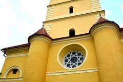 中世纪被加强的教会Cristian,特兰西瓦尼亚 免版税库存照片