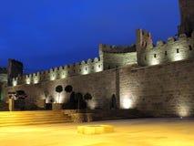 中世纪被围住的老城市巴库阿塞拜疆 免版税库存图片
