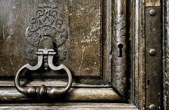 中世纪详细资料的门 库存图片