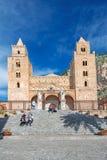中世纪诺曼底大教堂在Cefalu意大利 免版税库存图片
