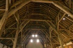 中世纪谷仓在富兰德 免版税库存图片