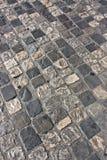 中世纪路面路 免版税库存照片