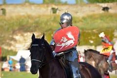 中世纪重建的节日 免版税库存照片