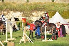 中世纪重建的节日 免版税图库摄影