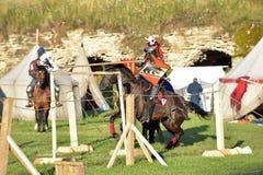 中世纪重建的节日 免版税库存图片