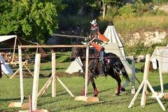 中世纪重建的节日 库存照片