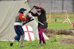 中世纪重建节日  库存照片