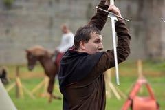 中世纪重建节日  免版税库存照片