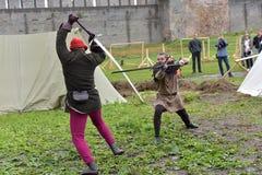 中世纪重建节日  免版税库存图片