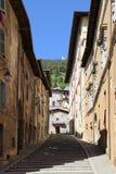 中世纪镇古比奥在翁布里亚 免版税图库摄影