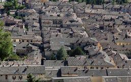 中世纪镇古比奥在翁布里亚 库存图片