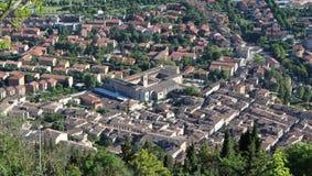 中世纪镇古比奥在翁布里亚 免版税库存图片