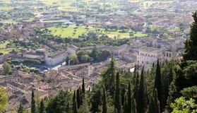 中世纪镇古比奥在翁布里亚 库存照片