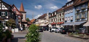 中世纪镇在德国 库存图片