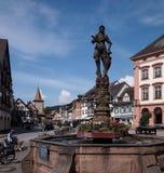 中世纪镇在德国 免版税库存照片