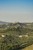 中世纪镇科莱科尔维诺阿布鲁佐意大利 库存图片