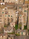 中世纪镇索拉诺在托斯卡纳 免版税库存照片