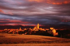 中世纪镇 库存图片