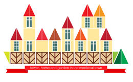 中世纪镇 免版税图库摄影