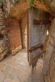 中世纪门在老镇 免版税库存图片