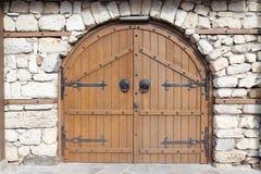 中世纪门 库存照片