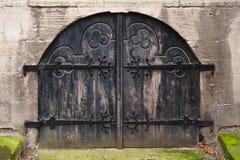 中世纪门 免版税库存照片