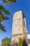 中世纪防御塔Beginenturm在汉诺威 库存照片