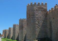中世纪阿维拉墙壁 图库摄影
