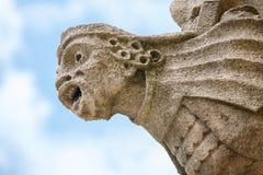 中世纪面貌古怪的人。牛津,英国 图库摄影